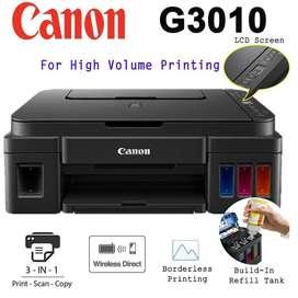 PRINTER CANON G3010 (PRINT SCAN COPY WIFI)