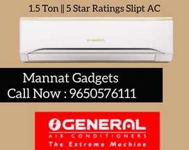 1.5 Ton, 5 Star, Split Ac (( O General )) Brand New