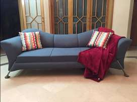Beautiful, contemporary sofa with new covers