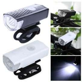 Lampu Depan Sepeda Waterproof / Lampu LED USB 3 Mode Rechargeable