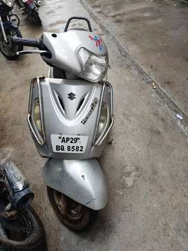 Suzuki Access 125 cc sliver colour just for 24000