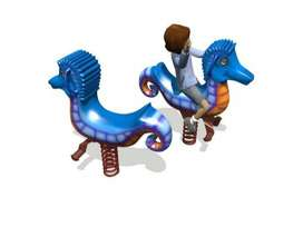 Sea Horse Rider Whimsy Mainan Outdoo Murah - Playground