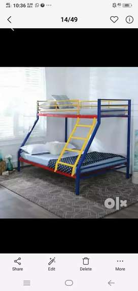 Full metal bunk bed