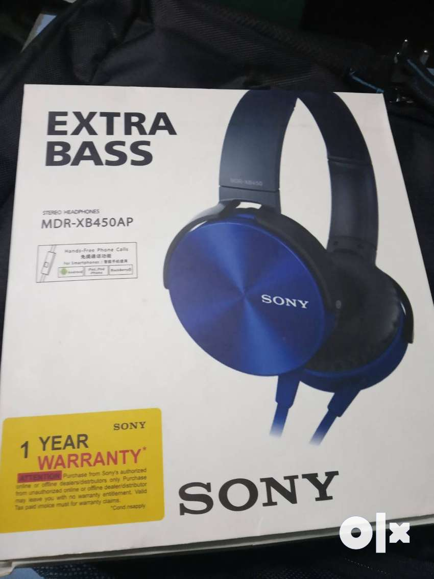 Sony extra bass headphones with mic 0