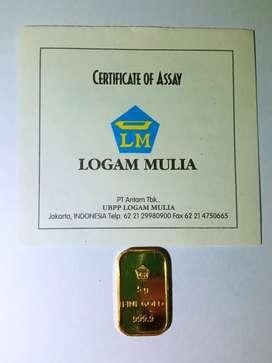 Logam Mulia ANTAM 5 gram retro
