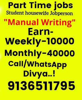 Simple hand writing good earning part time job