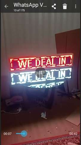 Moving LED SIGN boards. Advertisement board for shops,hotels etc.