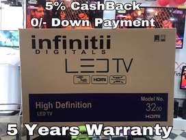 "Infinitii 32"" Full HD Led Tv - 5 Years Warranty"