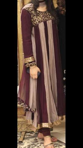 3piece Long shaffon dress