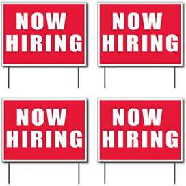 Now hiring in back office work