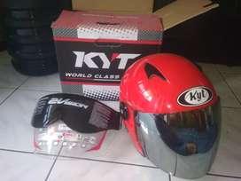 Helm 2 vision merah size m