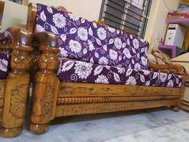 Brand New (3+1+1) Made By Order PURE Mysore teakwood Wooden Sofa set.