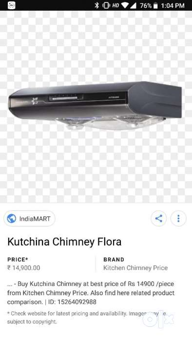 Kutchina chimney 4 yrs old. Good condition. Well 0