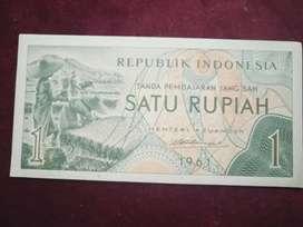 Uang kuno 1 Rupiah th 61