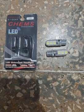 Dijual Cepat Lampu LED Senja Kedip Motor Warna Putih, Baru di Pasang