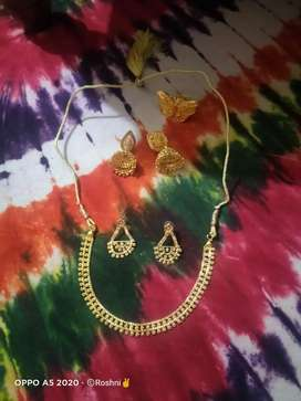 Golden colour jewellery