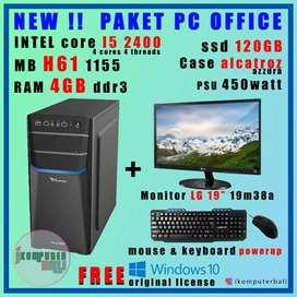 "NEW !! Paket komputer kasir / office core i5 + monitor 19"" + moskey"
