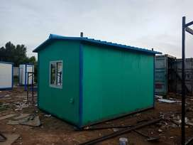Prefab Steel Structure Fiberglass Cabin, Site Office Container For Sal