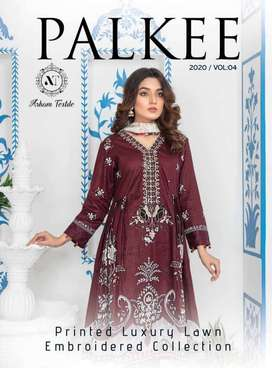 PALKEE Embroidered Luxury Lawn Collection 2020 Vol IV