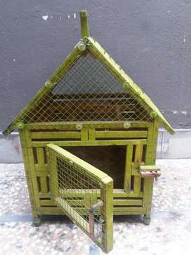 CAGE FANCY WOODEN STRONG FOR BIRDS new