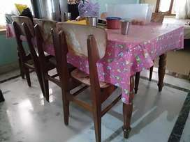 Dinning set, table with 6 chairs