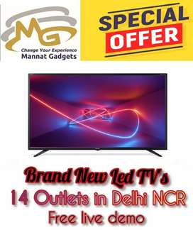 32 inch Smart LED TV (Sharp audio + light weight + brand new)