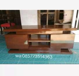 Bufet rak meja tv minimalis 2 laci kayu jati P:150xL:45xT:55cm.