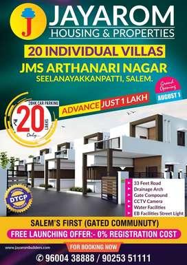 Gated Community 2 bhk Villas for sale in seelanayakkanpatti(salem)