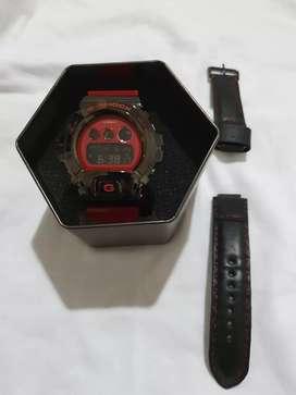 G Shock Metal Bezel Series GM6900B-4 Black - Red