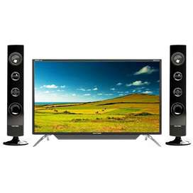 TV LED POLYTRON CINEMAX + Tower Speaker ( 32 Inch) Garansi 5 Tahun