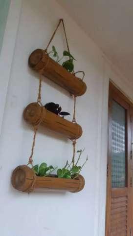 Bamboo hanging pot
