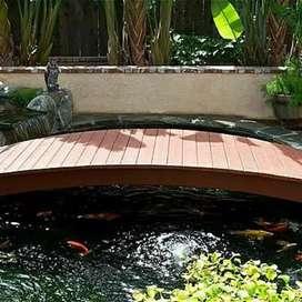 Kolam buatan untuk kolam ikan , kolam minimalis, taman minimalis