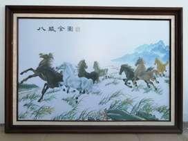 Lukisan Delapan Kuda Ukuran 121X86,5cm