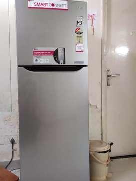 LG Double Door fridge/ Refrigerator (255 ltrs) 7 years warranty left.