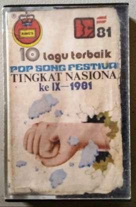 Kaset 10 Lagu Terbaik Pop Song Festival Tingkat Nasional Ke IX - 1981