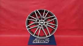 Jual Velg HSR Green Ring 14 Untuk Mobil Honda Brio