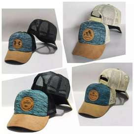 Topi jaring new design two tone