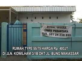 Rumah type 53 dekat pintu 1 Unhas dan dekat Mesjid