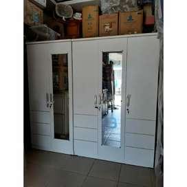 Lemari pakaian / lemari baju 5 pintu wood particle