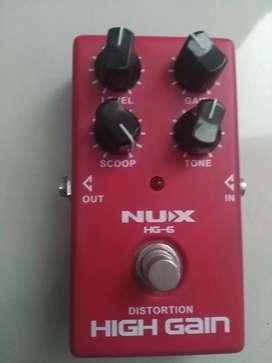 Efek gitar distorsi nux high gain hg