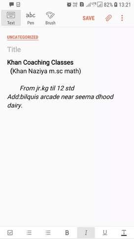 Khan Coaching Classes