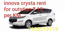 New Innova crysta rent for outstation trip