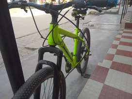21 gear double disk  light green colour