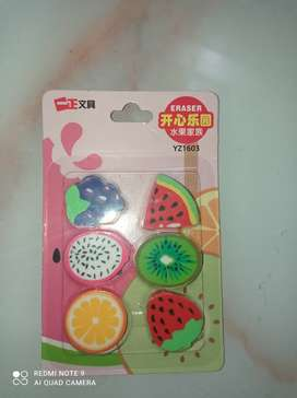 Fruit family eraser