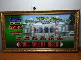 Produsen Jam Masjid Uk 110x60 Running teks Kirim Masjid Kota Tangsel