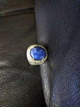 Cincin pria batu permata blue saphire