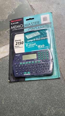 SHARP MEMO MASTER ELECTRONIC ORGANIZER