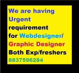 We are having Urgent requirement for Web designer/Graphic Designer ️Bo