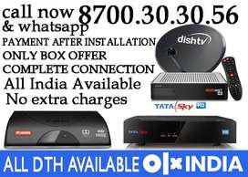 Dish tv SD&HD TATA SKY SD&HD AIRTEL SD&HD  New connection