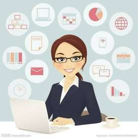 Female Admin Assistant Required to Work in Office